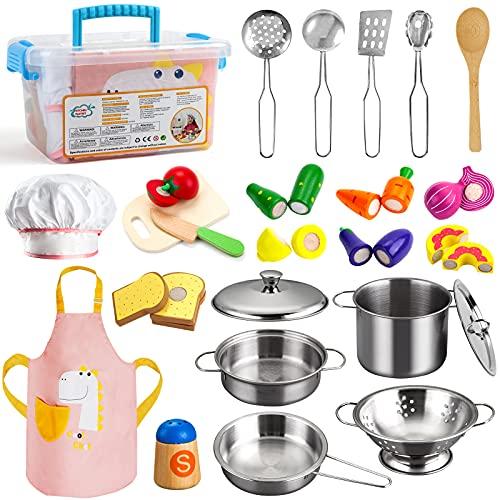 Sundaymot Küchenspielzeug Zubehör, Kinderküche...