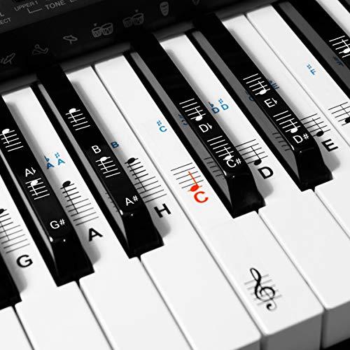kwmobile Klavier Keyboard Noten Aufkleber - für...