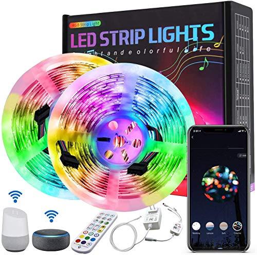Amouhom 10M LED Streifen mit APP-Steuerung und...