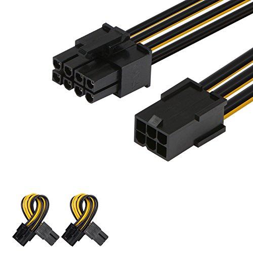 J&D 2er Pack 6 Pin auf 8 Pin PCI Express (PCIe)...