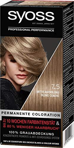 Syoss Haarfarbe Coloration Mittelaschblond 7_5...