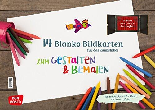 14 Blanko Bildkarten zum Gestalten & Bemalen für...