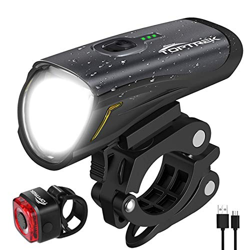 toptrek Fahrradlicht Set, LED Fahrradbeleuchtung...