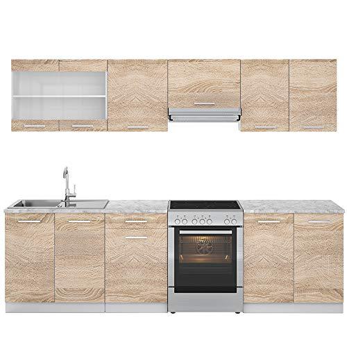 Vicco Küche Raul Küchenzeile Küchenblock...