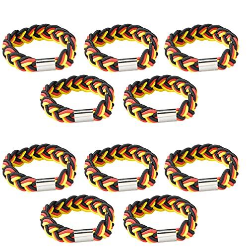 10x Deutschland Armband Fanartikel...