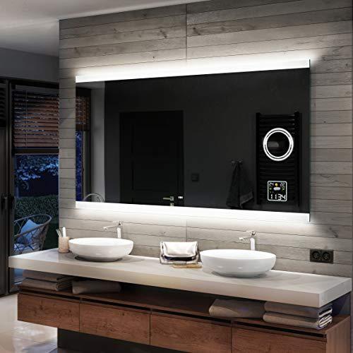Artforma Badspiegel 140x80cm mit LED Beleuchtung -...