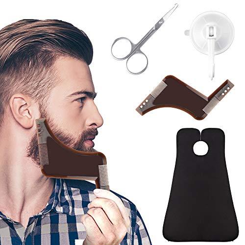 EMAGEREN Bartpflege Set Bartschürze mit Bart...