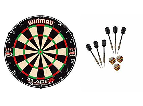 WINMAU Blade 5 Dartboard + McDart Steeldarts (6...