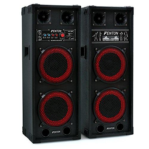 Fenton SPB-28-2 x PA Lautsprecher, Aktivboxen Set,...