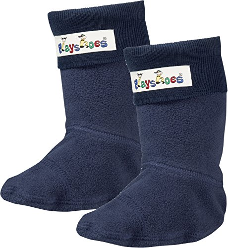 Playshoes Mädchen Fleece-Stiefel Socken, Blau...