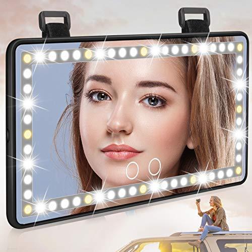 Adhope Auto Make-up Spiegel mit Beleuchtung Auto...