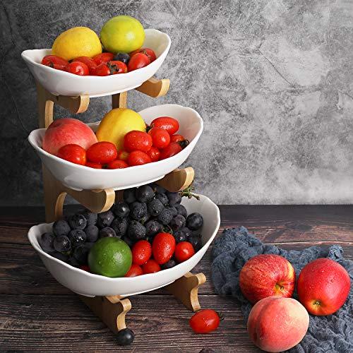 Obst Etagere Keramik 3 Stöckig Porzellan...