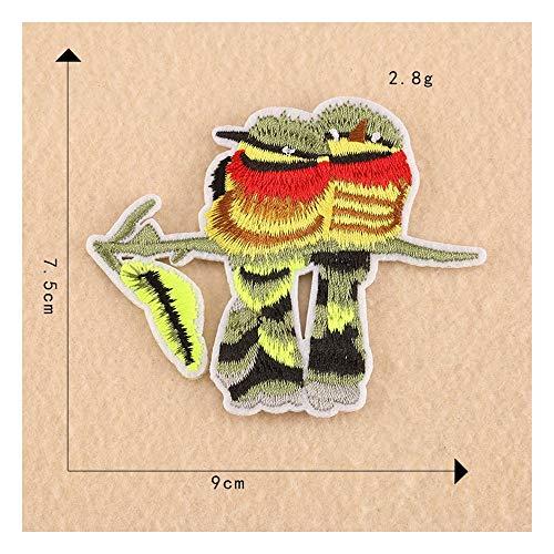 Tongjun Tier Vogel Stickerei Aufkleber...