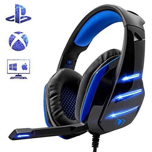 Beexcellent Gaming Headset für PS4, Surround Bass...