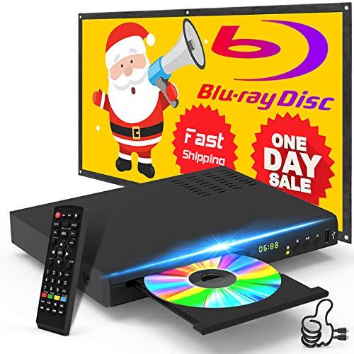 Blu Ray Disc Player mit HDMI AV Kabel, 1080P, USB,...