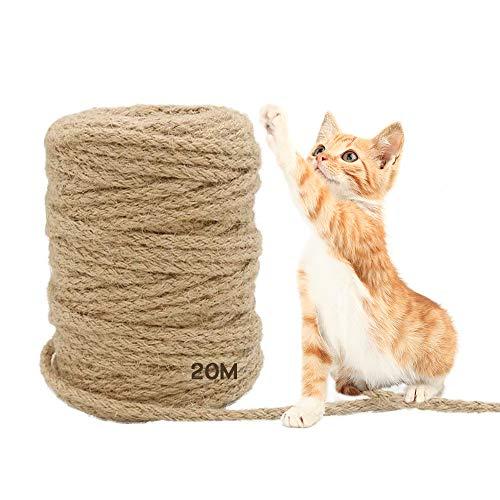 MEISHANG 20 m Seil für Katzenbaum,Katzen Kratz...