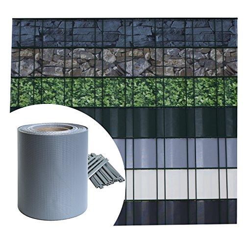 Sichtschutz PVC - Grau RAL 7040 - 35m (7m²) -...