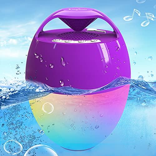 Bluetooth Lautsprecher mit Licht, Schwimmend...
