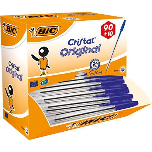 BIC Kugelschreiber Cristal Value Pack / 100 Kulis...