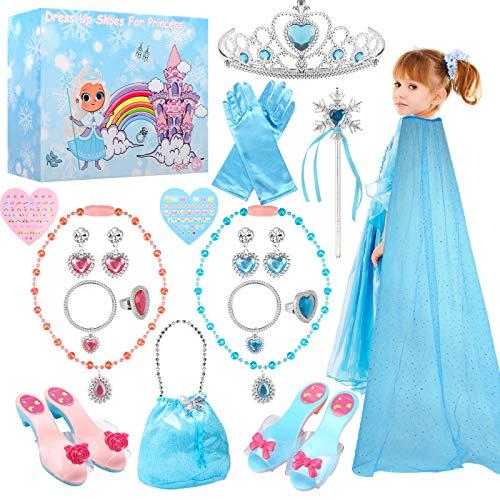 TwobeFit Prinzessin Kostüm Zubehör, Prinzessin...