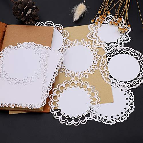 20 Stück Scrapbook-Aufkleber, Weißes rundes und...