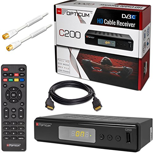 Kabel Receiver DVB-C HB-DIGITAL Set: Opticum HD...