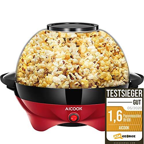 Aicook Popcornmaschine für Zuhause, Popcorn Maker...