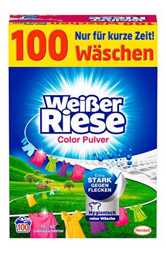 Weißer Riese Color Pulver (100 Waschladungen),...