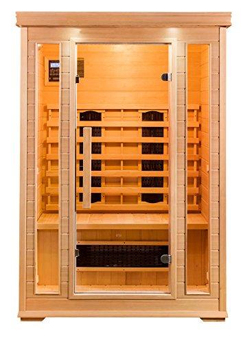 Sauna 2 Personen Infrarotkabine Wärmekabine...
