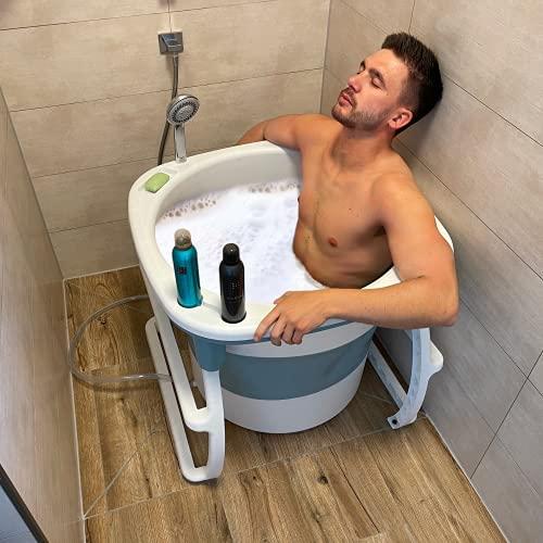CRS Sitzbadewanne für Dusche & kleines Bad  ...