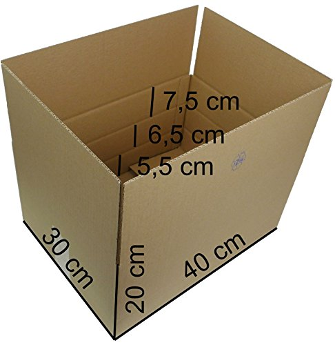 25 Faltkartons 400x300x200 mm, Versandkartons...