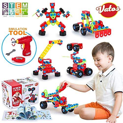 VATOS Spielzeug Baue Bausteine Lernspielzeug...