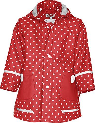 Playshoes Mädchen Regen-mantel Punkte Jacke, Rot,...