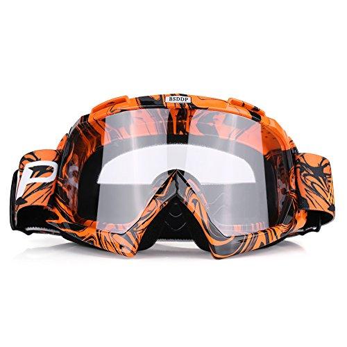 Qiilu Motorrad Goggle Motocross Wind Staubschutz...