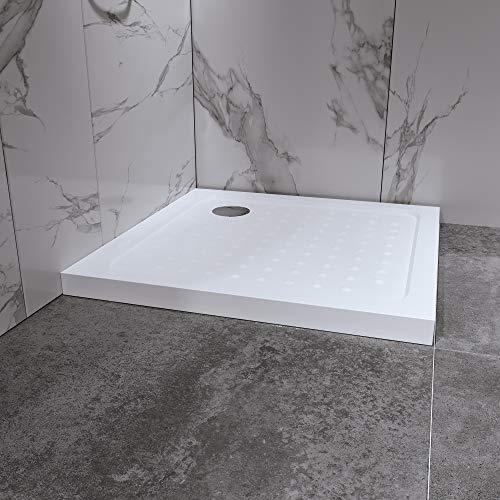 Duschwanne Duschtasse 80x80 cm Quadratisch Acryl...