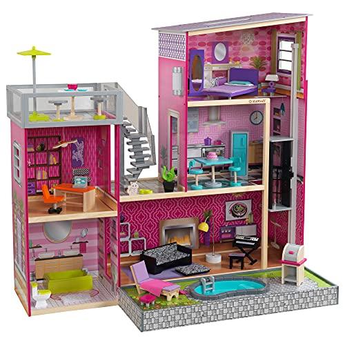 KidKraft 65833 Uptown Puppenhaus aus Holz mit...