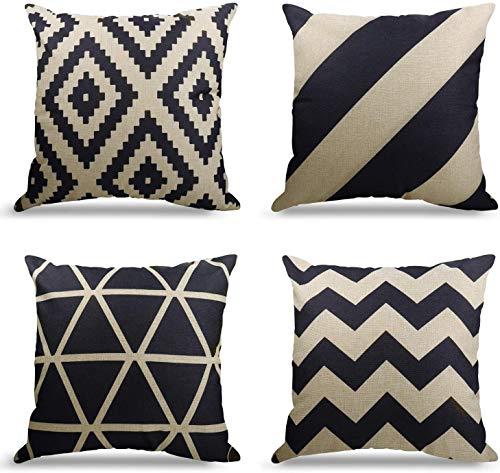 4er Set Dekorativ Kissenbezug Geometrische Muster,...