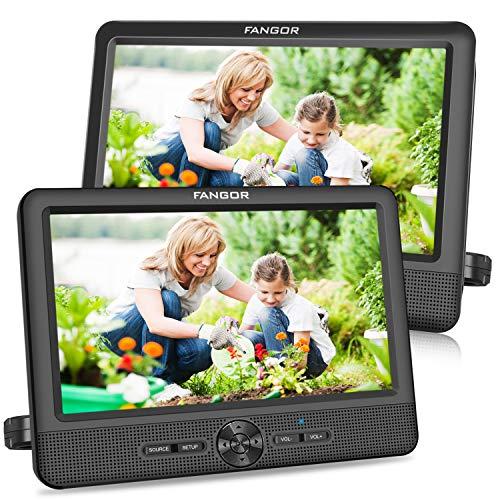 FANGOR 9,5 Zoll Auto DVD Player tragbare 2...
