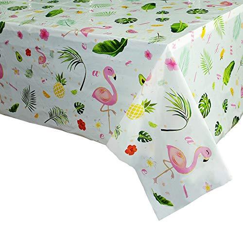 WERNNSAI Flamingo Tischdecke - 2 PCS 110 x 180cm...