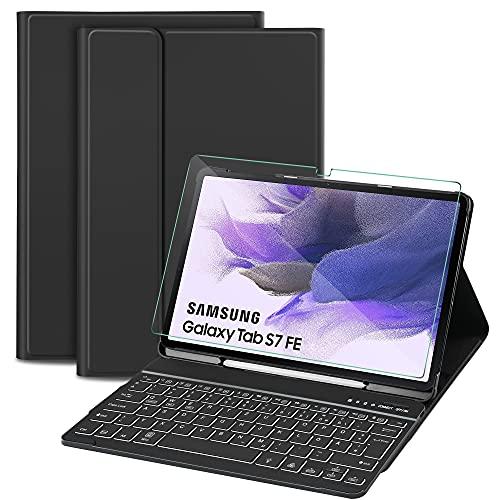 Sross-TEC Tastatur Hülle Kompatibel mit Samsung...
