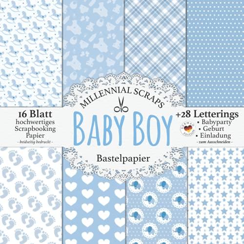 Baby Boy Bastelpapier: Scrapbooking Papier &...