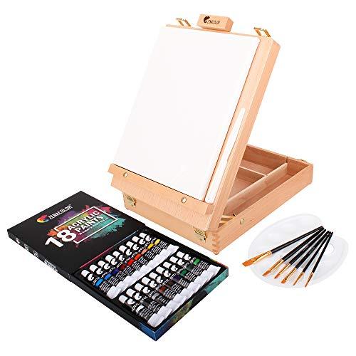 Zenacolor Acrylfarbe Set für Künstler - mit...