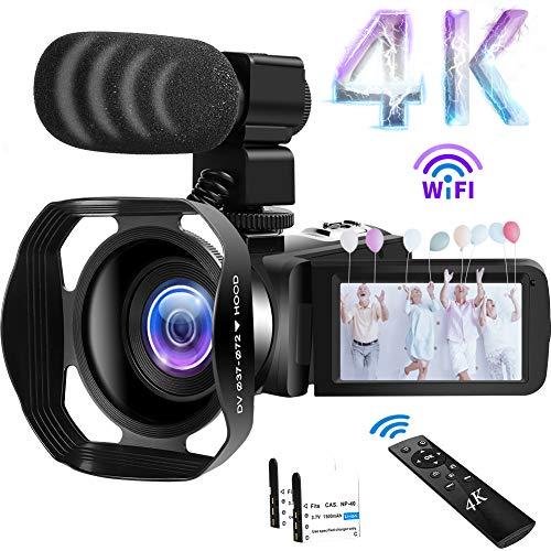 Camcorder 4K Videokamera 48MP 60FPS WiFi Camcorder...