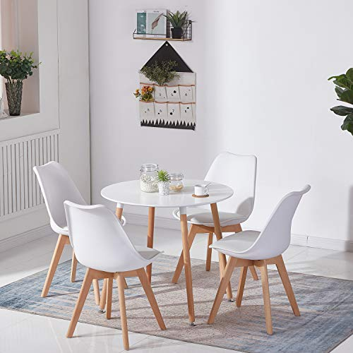H.J WeDoo Esstisch mit 4 Stühle Essgrupp...