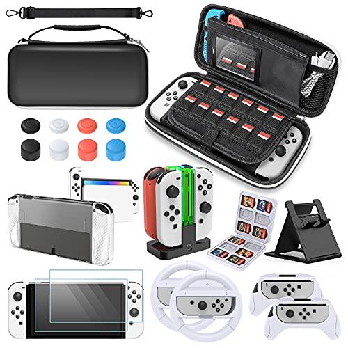 Zubehör-Set für Nintendo Switch OLED Modell,...