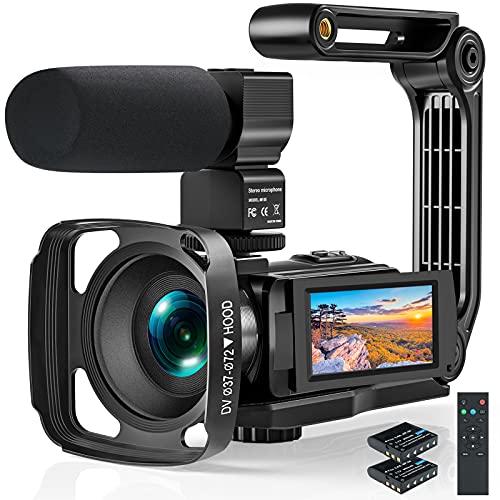 Videokamera 2.7K Camcorder mit Mikrofon,Full HD...