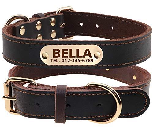 TagME Personalisierte Hundehalsbänder aus Leder...
