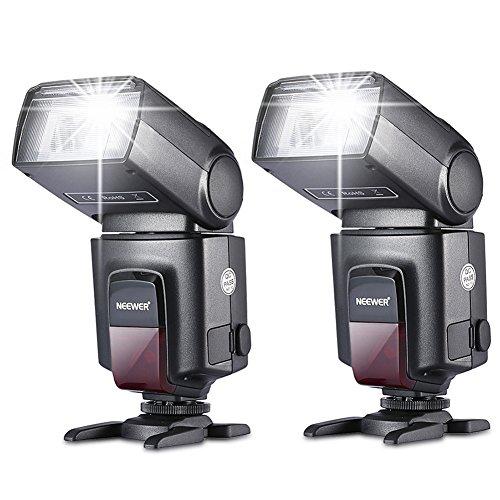 Neewer®TT560 Zwei Blitzgerät Blitz Speedlite Set...