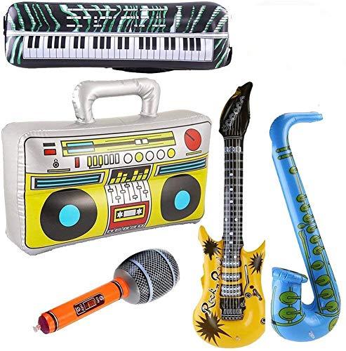 Yojoloin 5 STÜCKE Inflatables Gitarre Saxophon...