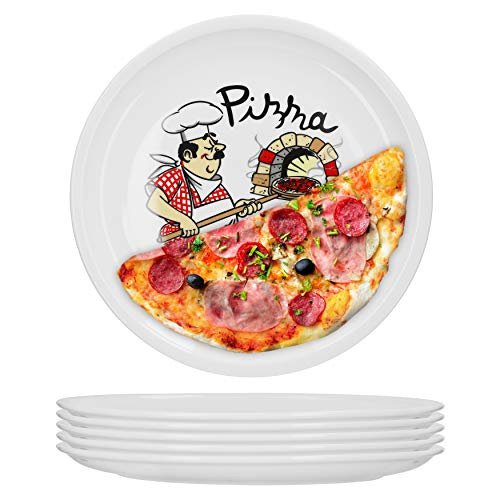 Van Well 6er Set Pizzateller groß Ø 29.5 cm mit...
